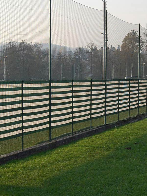 Sports ground screening nets