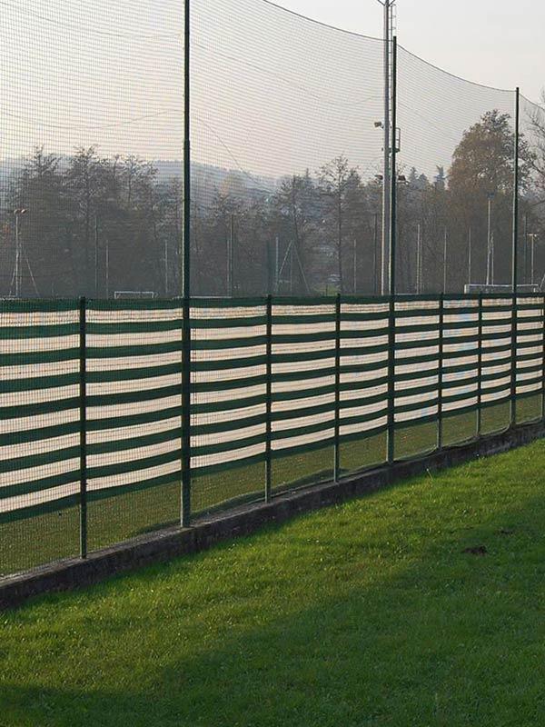 Sports ground screening nets