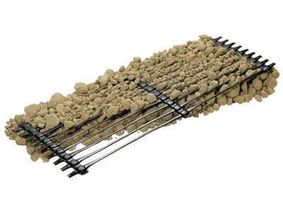 Mono directional geogrids for reinforcement Tenax TT