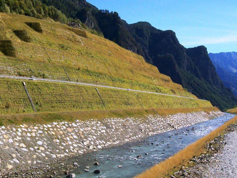 Terre rinforzate rinverdite - Frana della Val Pola