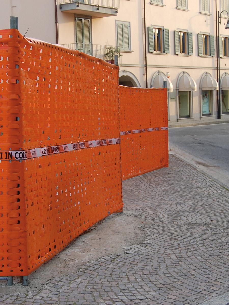 Rete arancio da cantiere