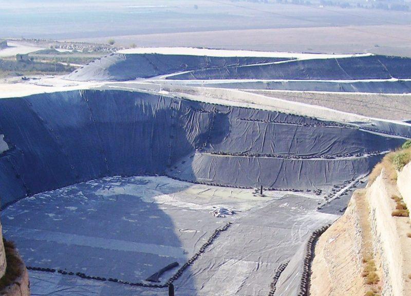 Geocompositi Tenax per il drenaggio vasca discariche