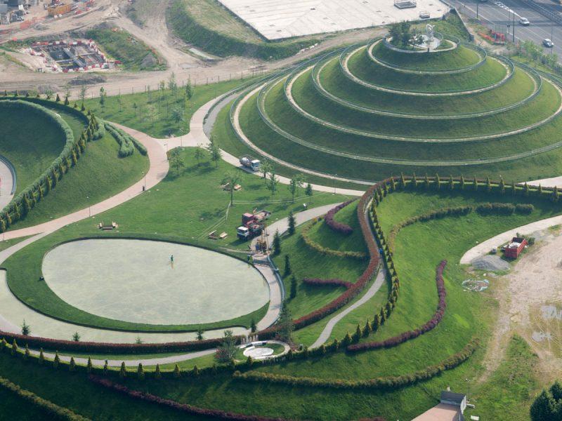 Landscaping Parco del Portello Milano con geosintetici Tenax