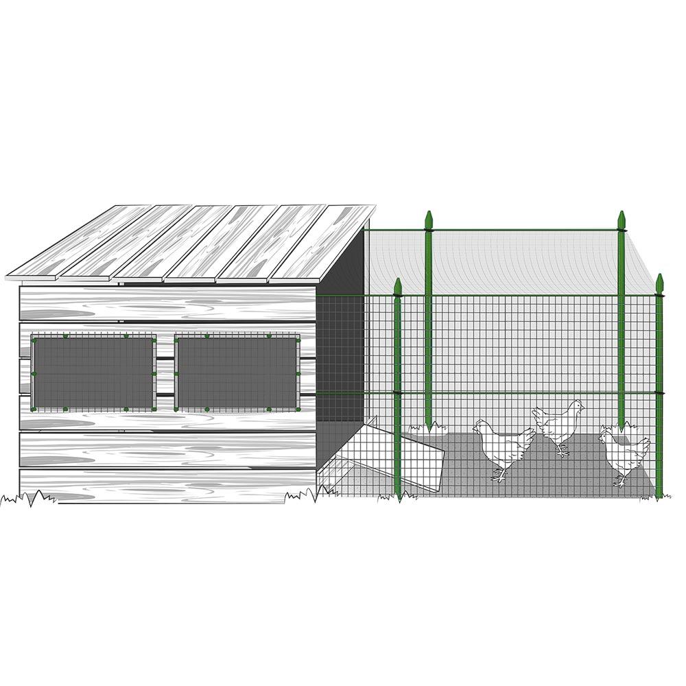 Installazione reti da recinzione in plastica