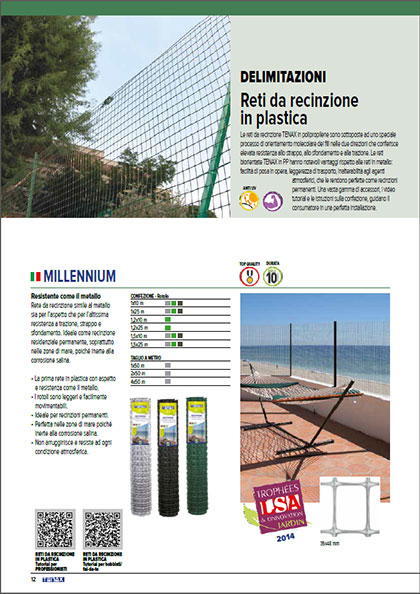 Recinzioni in plastica - catalogo garden Tenax