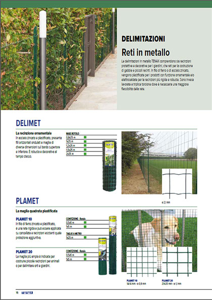 Reti in metallo - catalogo garden Tenax