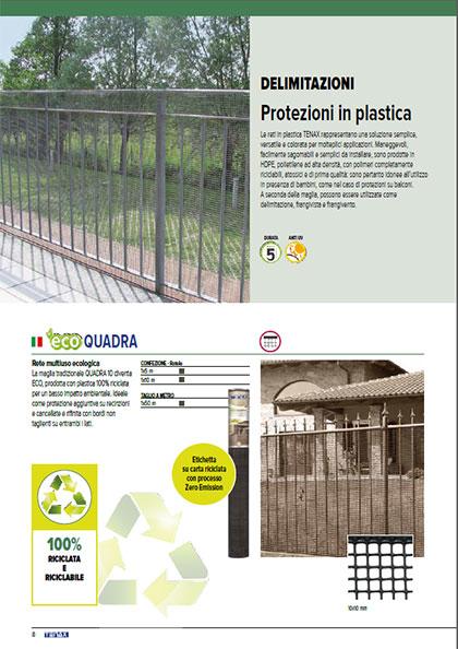 Reti in plastica - catalogo garden