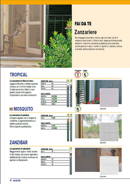 Zanzariere - catalogo garden Tenax