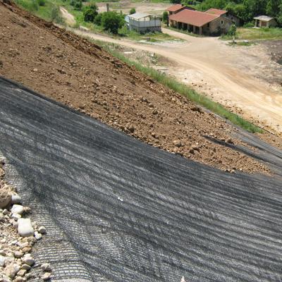 Controllo dell'erosione capping discariche con geostuoie Tenax