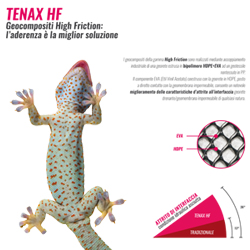 Geocomposito drenante High Friction Tenax HF