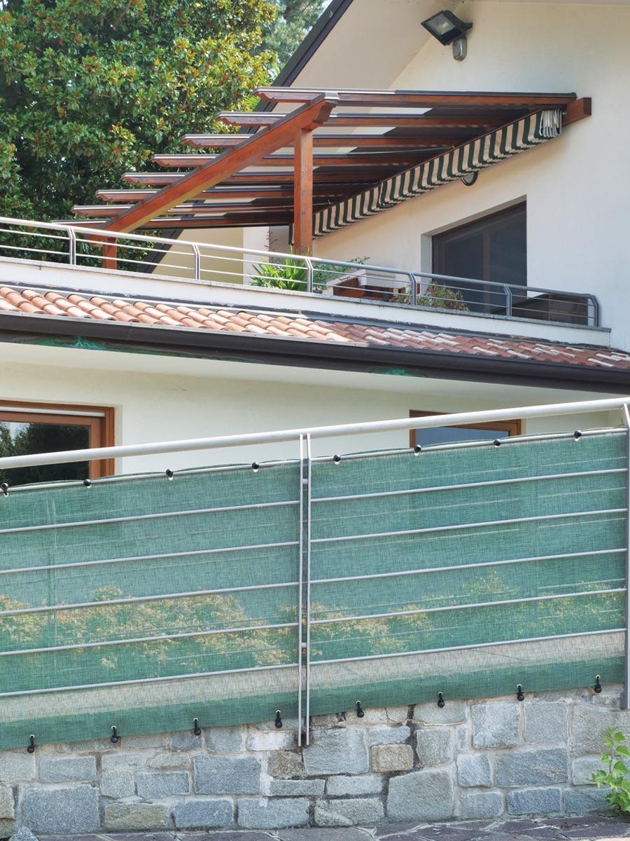 Schermatura decorativa recinzioni ringhiere Tenax TEXSTYLE ALL GREEN