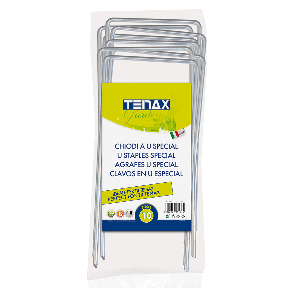 Chiodi a U per il fissaggio di prodotti TENAX al terreno