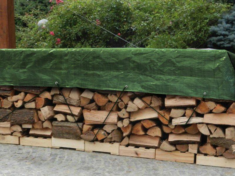 Telo protettivo impermeabile per proteggere la legna