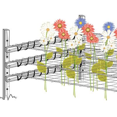 Installazione rete per coltivazione fiori - fase 5