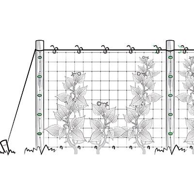 Installazione verticale rete per rampicanti - fase 2