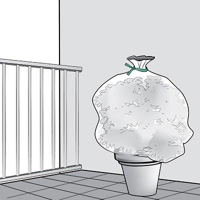 Installazione velo protettivo tubolare per piante