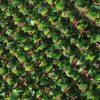 Siepe sintetica con foglie in PE su traliccio estensibile DIVY TRELLIS 3D