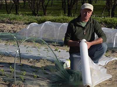 Video reti protettive per colture