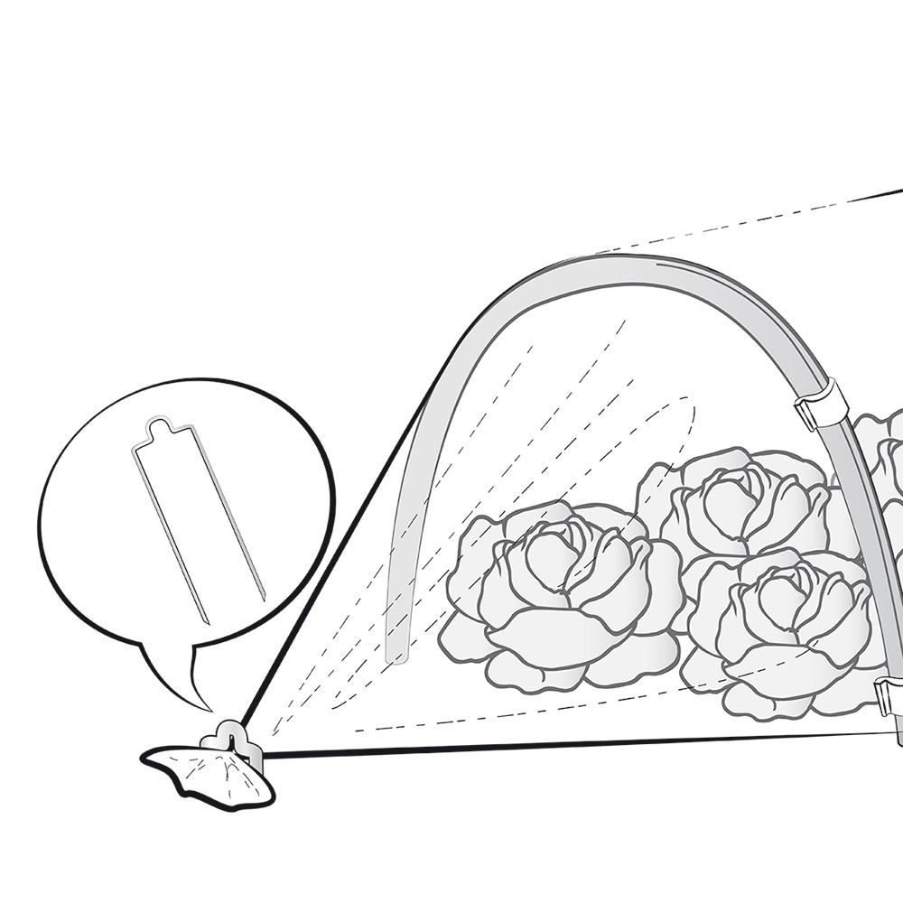 I chiodi a U plus permettono di chiudere al meglio i tunnel per la crescita anticipata e per la protezione degli ortaggi