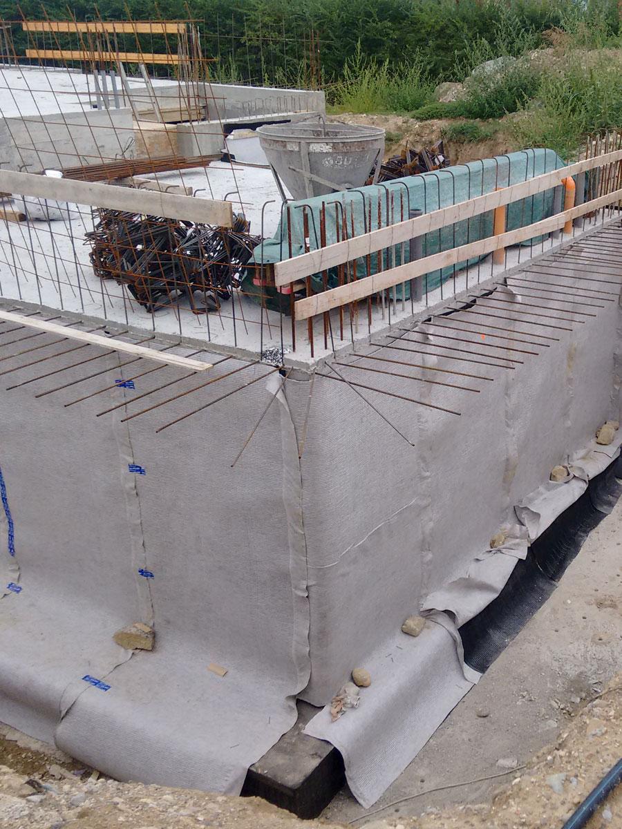Geocomposito drenante DP1 - cantiere privato