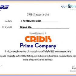 Cribis Prime Company recognition of maximum commercial reliability